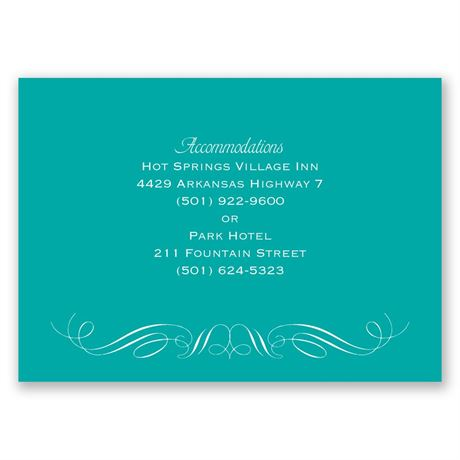 Elegant Filigree - Accommodations Card