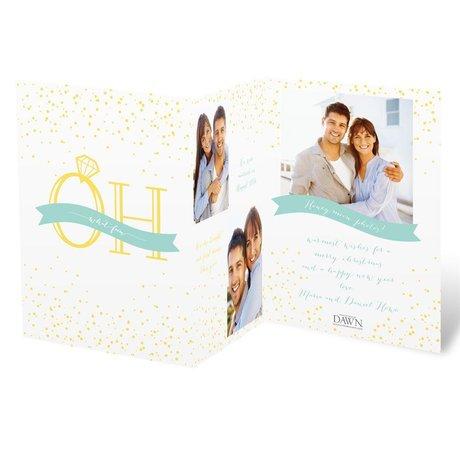 Holiday Confetti Photo Holiday Card