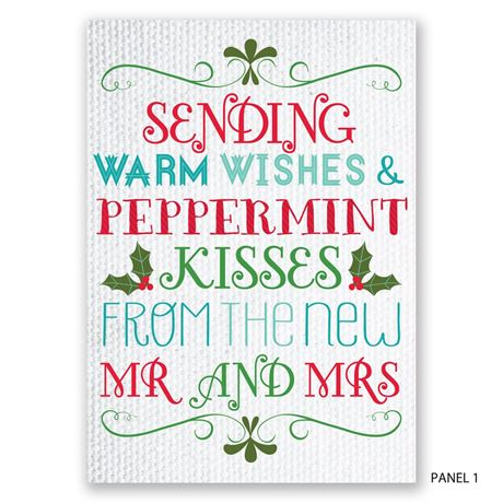 Peppermint Kisses - Photo Holiday Card