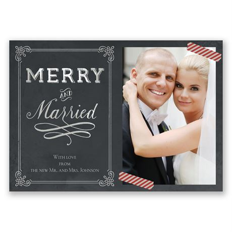 Candy Cane Corners Photo Holiday Card