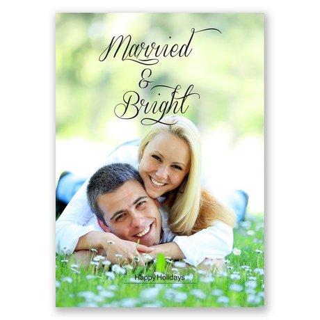Bright Stripes Photo Holiday Card