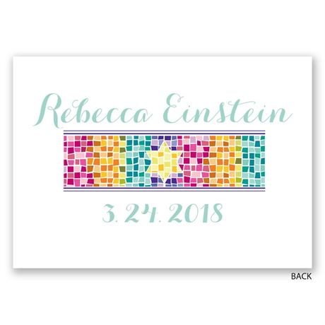 Mosaic - Bat Mitzvah Invitation