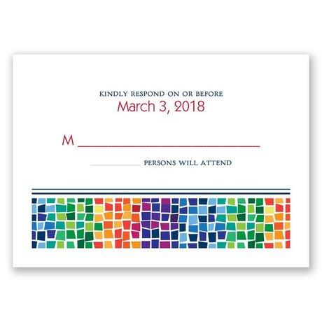 Mosaic Response Card
