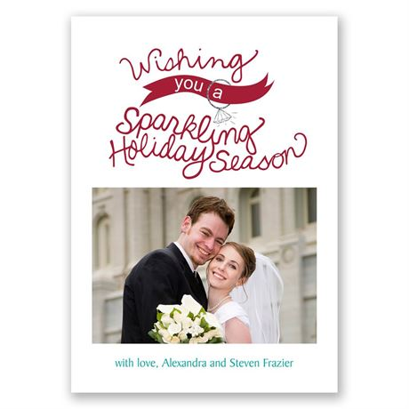 Sparkling Wishes Photo Holiday Card