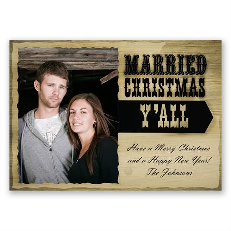 Rustic Christmas Photo Holiday Card