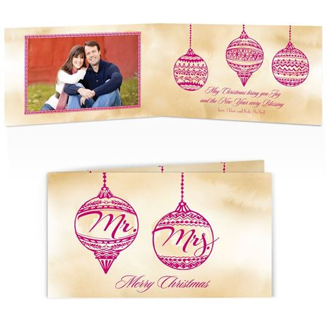Mr. and Mrs. Ornaments Photo Holiday Card