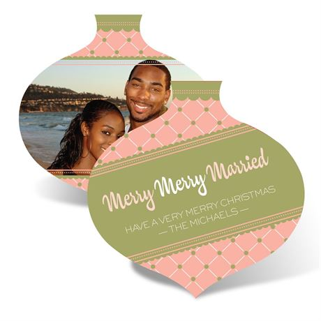 Merry Married Ornament - Corabell - Photo Holiday Card