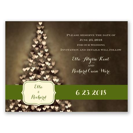 All Aglow - Holiday Card Save the Date