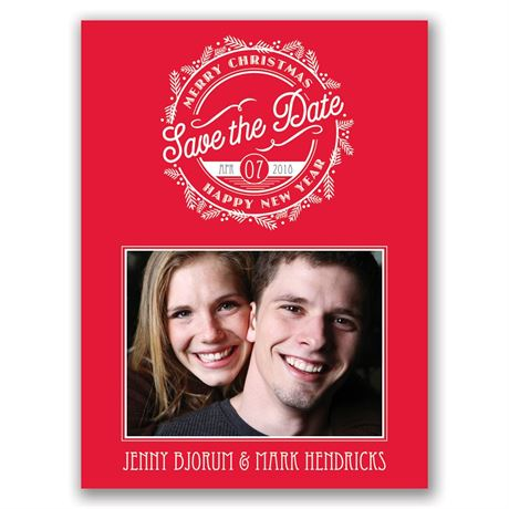 Stamped with Love Holiday Card Save the Date
