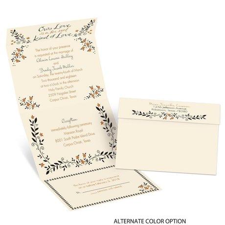 Our Love - Ecru - Seal and Send Invitation