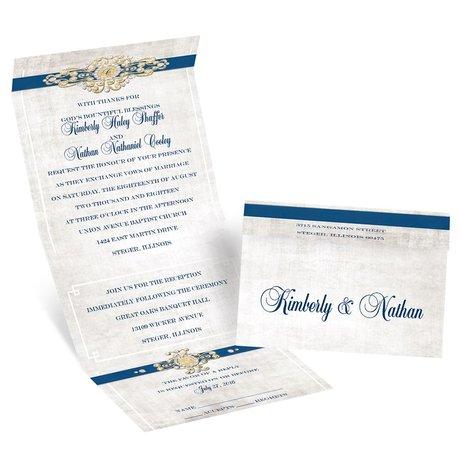 Vintage Glam - Seal and Send Invitation