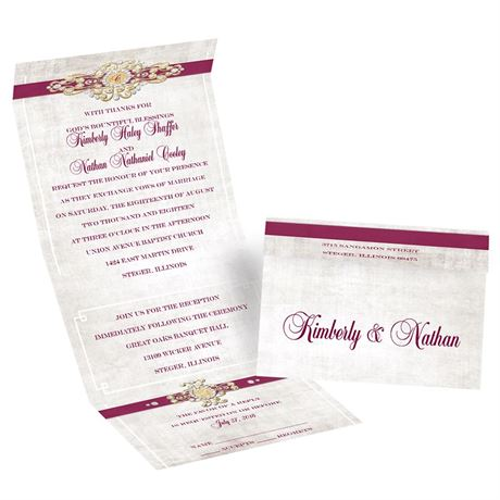 Vintage Glam Seal and Send Invitation