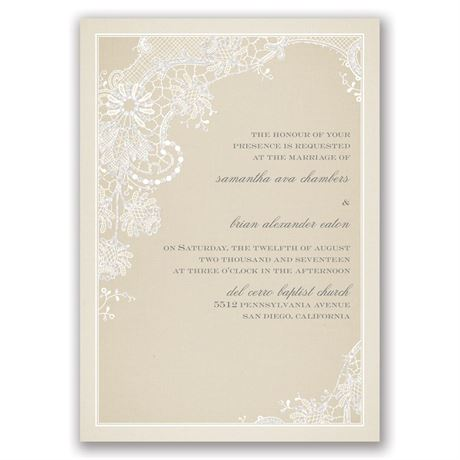 Subtle Elegance Real Glitter Invitation
