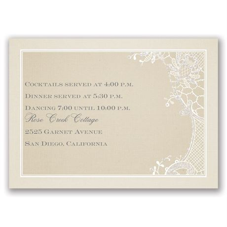 Subtle Elegance Real Glitter Reception Card