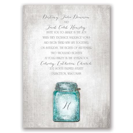Taste of Country Real Glitter Invitation