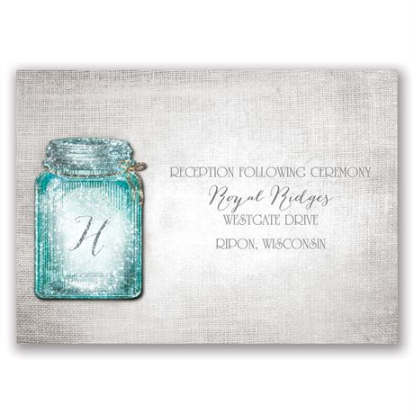 Taste of Country Real Glitter Reception Card
