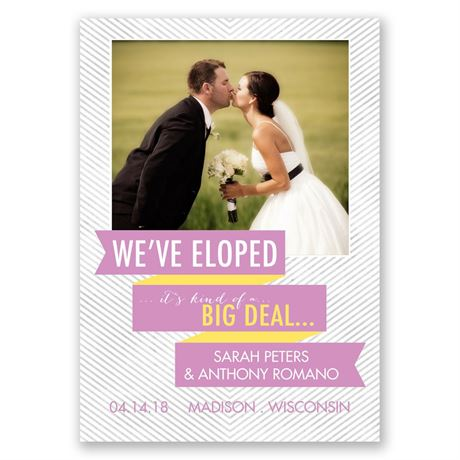 Big Deal - Wedding Announcement