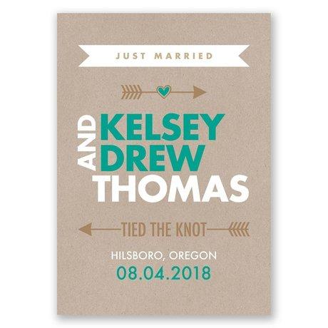 "Cupid""s Arrow - Wedding Announcement"