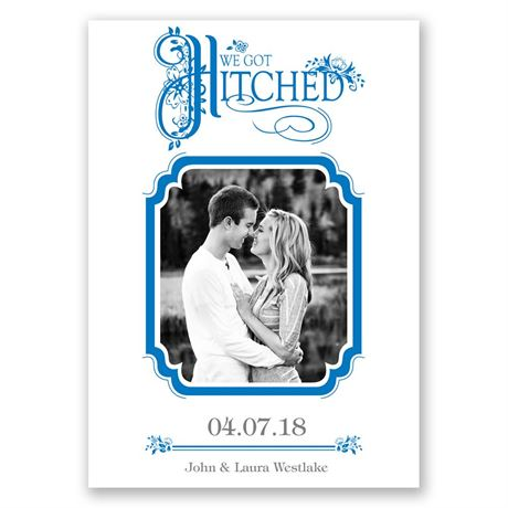 Hitched - Wedding Announcement