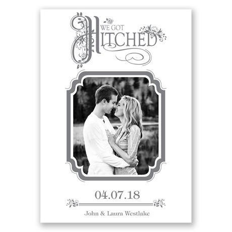 Hitched Wedding Announcement
