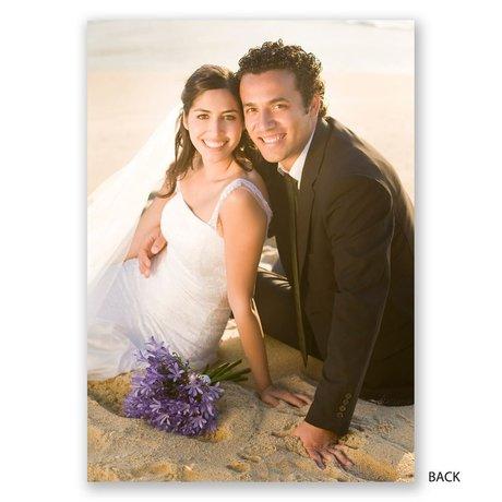 Faint Flourish - Wedding Announcement