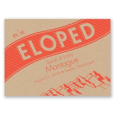 Mountain Escape Wedding Announcement Postcard
