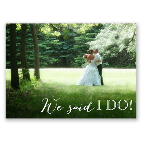 Charming Frame Wedding Announcement Postcard