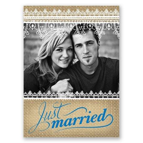 Just Married - Wedding Announcement Postcard