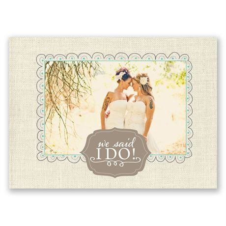 Beautiful Vows Wedding Announcement Postcard