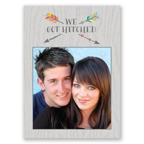 Love Struck Wedding Announcement Postcard
