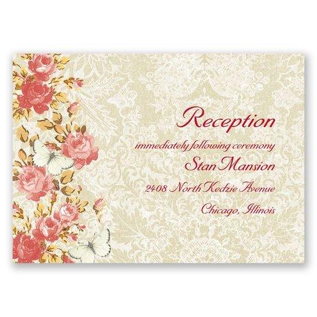 English Garden Reception Card