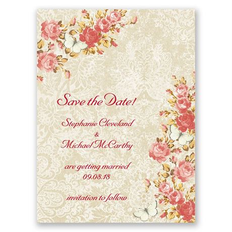 English Garden Save the Date Card