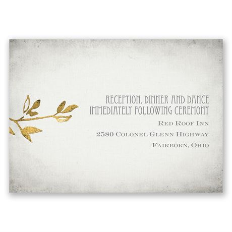 Leaves of Gold Reception Card