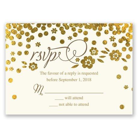 Gold Confetti Response Card