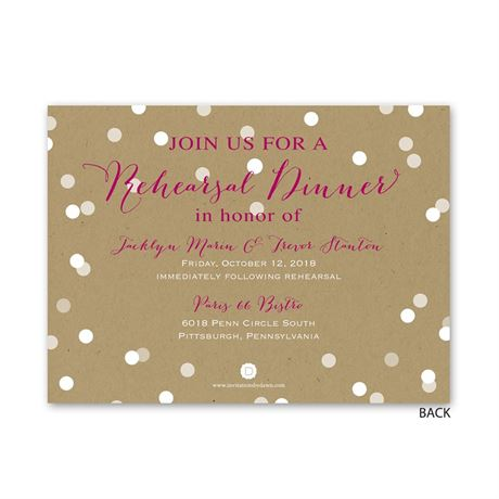Bright Lights - Petite Rehearsal Dinner Invitation
