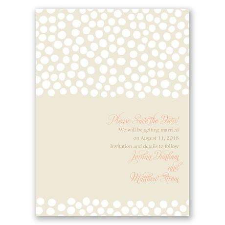 Pebbles and Pearls - Save the Date Card