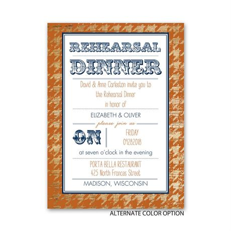 Houndstooth Frame - Petite Rehearsal Dinner Invitation