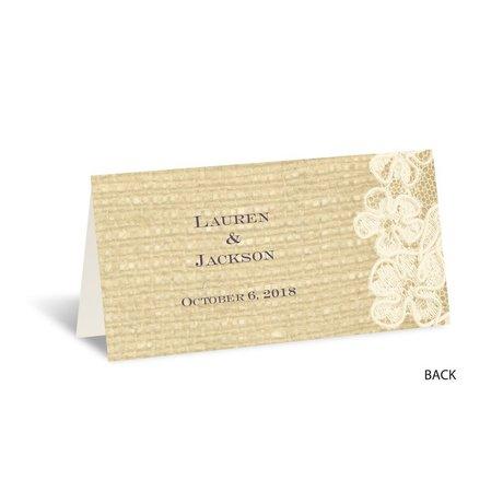Lace Finish - Ecru - Place Card
