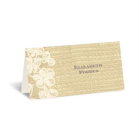 Lace Finish - Ecru - Place Card