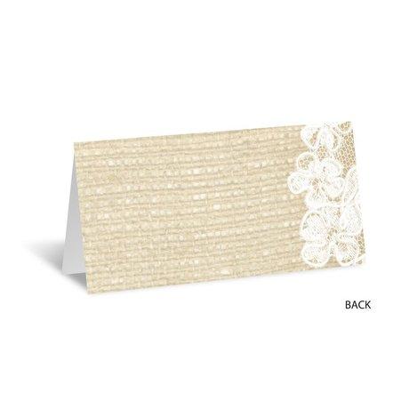Lace Finish - Escort Card