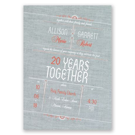 Denim Dream Anniversary Invitation
