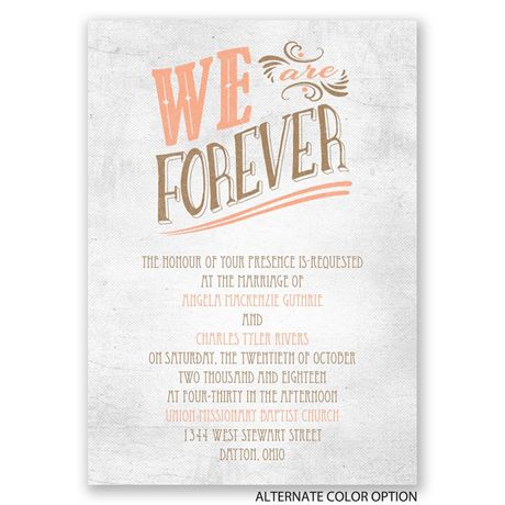 Forever Smiling - Invitation
