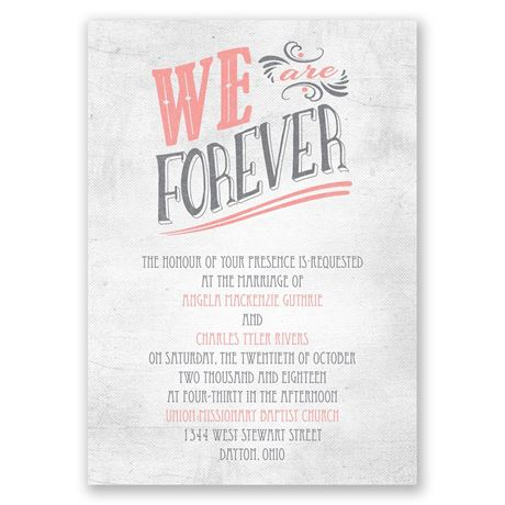 Forever Smiling Invitation