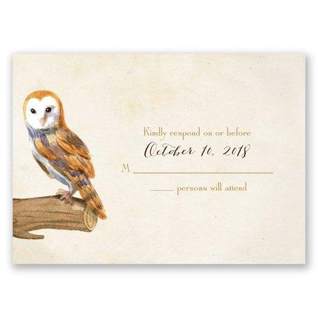 Vintage Owls Response Card