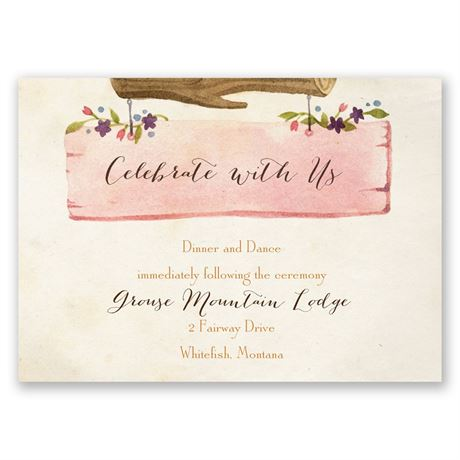 Vintage Owls Reception Card