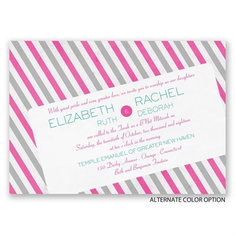 Stamped with Style - Mitzvah Invitation