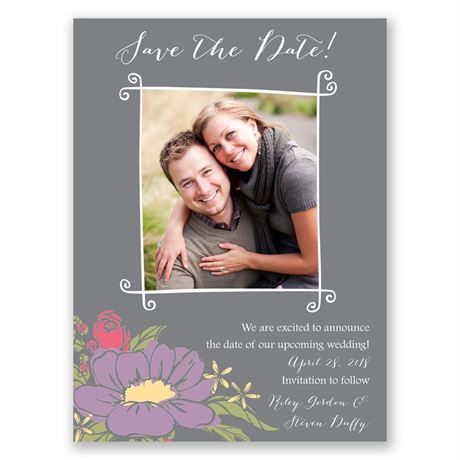 Whimsy and Wonder Save the Date Card