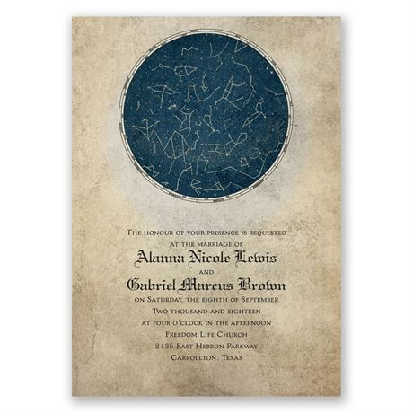 Constellations Invitation