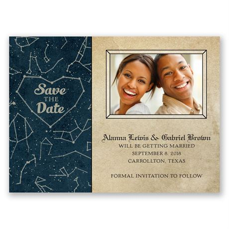 Constellations Save the Date Card