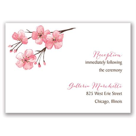 Blooming Border - Gold - Foil Reception Card